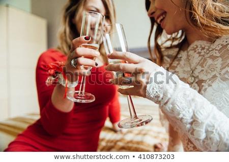美しい · セクシーな女性 · シャンパン · ガラス · 人 · 休日 - ストックフォト © dashapetrenko