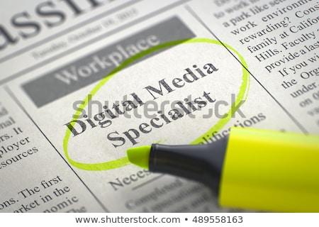 メディア 関係 スペシャリスト 仕事 新聞 ストックフォト © tashatuvango