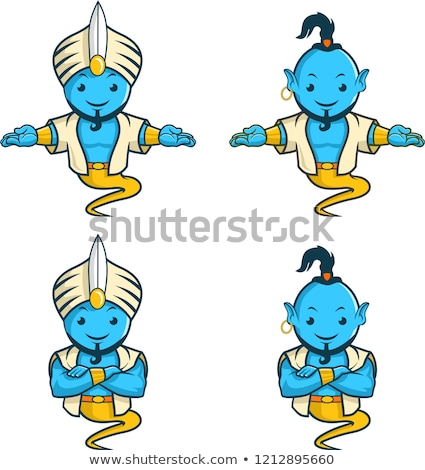 Stock photo: funny genius in the magic lamp