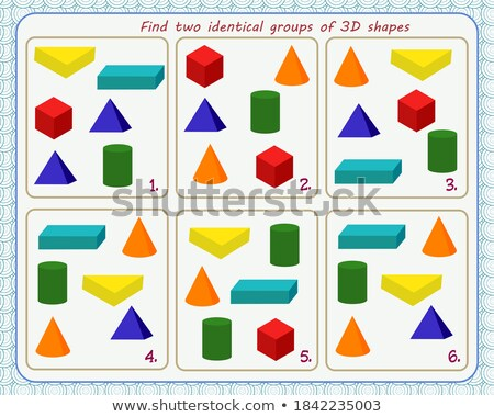 memory game children shapes 3 stock photo © olena