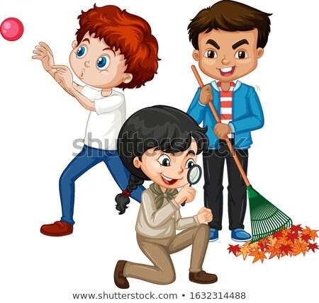 мальчики девочек различный вещи иллюстрация ребенка Сток-фото © bluering