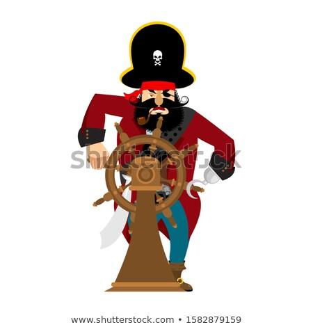 pirata · buque · volante · ilustración · diseno · vela - foto stock © popaukropa