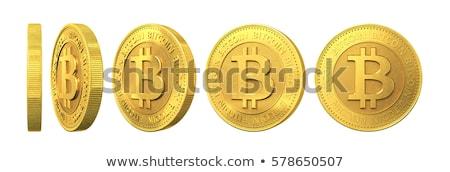 Bitcoin imzalamak ayarlamak yalıtılmış para alışveriş Stok fotoğraf © cammep