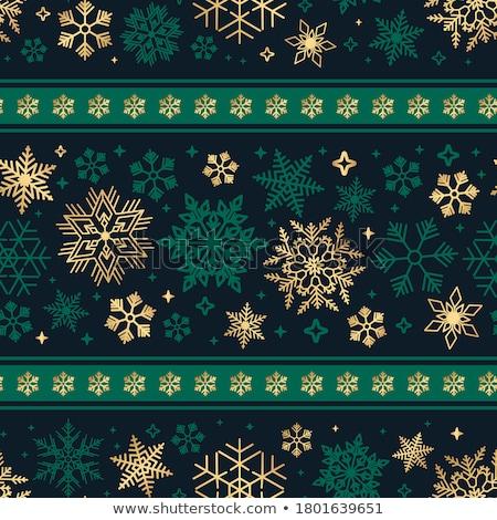 Karácsony végtelen minta hó pelyhek háttér tél Stock fotó © pakete