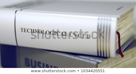 Book Title on the Spine - Technological Cycle. 3d Stock photo © tashatuvango