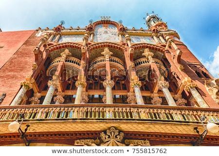 Stock fotó: Palota · zene · Barcelona · részletek · épület · Spanyolország