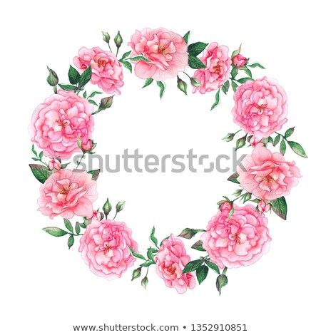 set of wedding invitation template with flower and decorative de Stock photo © SArts