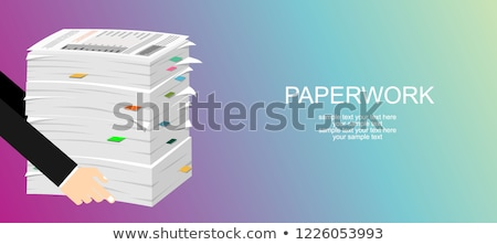 Pile of paper in tray Stock photo © IS2