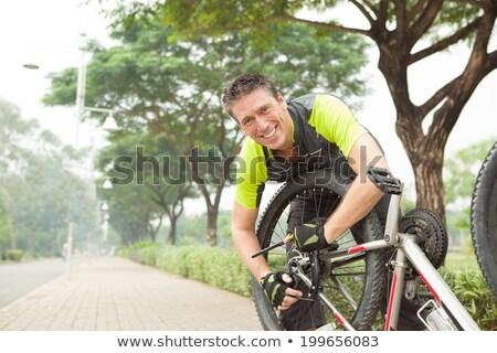 érett férfi nyár viselet férfi jókedv láb Stock fotó © IS2