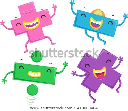 Matematiksel semboller maskotları eğitim örnek renkli Stok fotoğraf © lenm