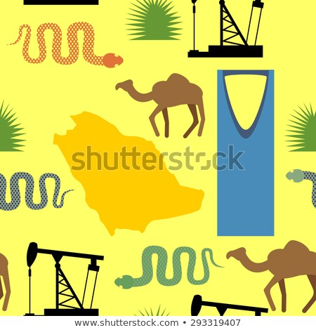 シンボル サウジアラビア 砂漠 油 ヘビ ストックフォト © popaukropa