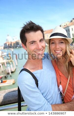 Couple on Academia Bridge Stock photo © IS2