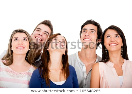 a group of people look at the sky Stock photo © studiostoks