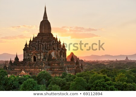 Sulamani ancient Buddhist temple in Myanmar Stock photo © romitasromala