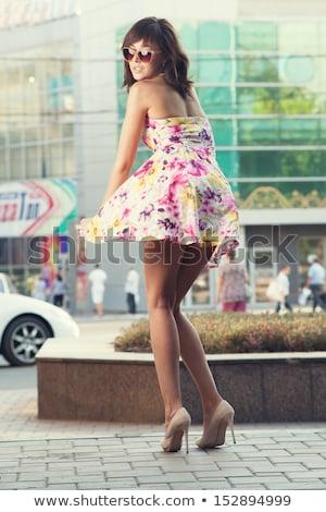 少女 徒歩 スカート 風 実例 女性 ストックフォト © adrenalina