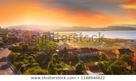 Skyline haven galicië Spanje stad oceaan Stockfoto © lunamarina