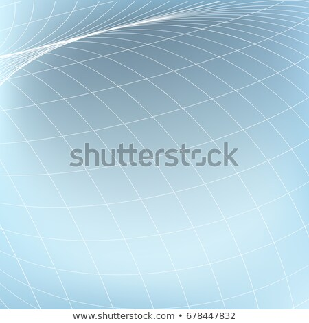 abstract geometric background curves diverging fine lines in perspective stock photo © essl