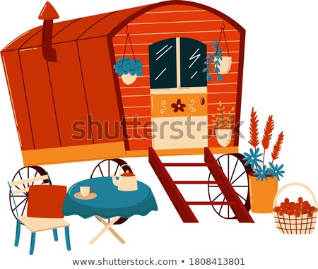 Travelling Trailer in Retro Style, Convenient Home Stock photo © robuart