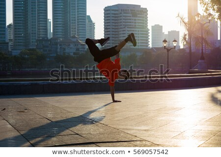 urban boy street dance in the park stock photo © bluering