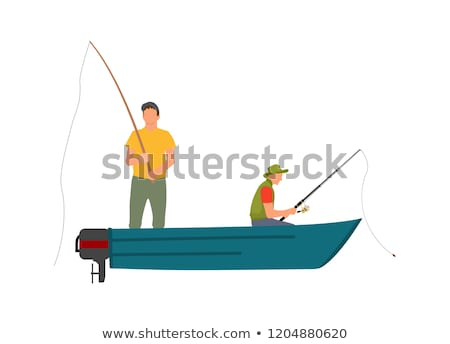 color angler model vector illustration poster stock photo © robuart