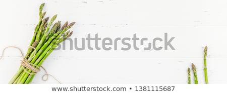 мнение органический сырой зеленый спаржа Сток-фото © dash