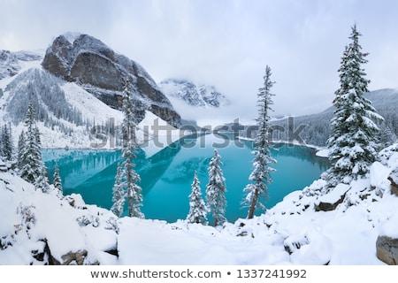 凍結 堆石 湖 カナダ 公園 春 ストックフォト © benkrut
