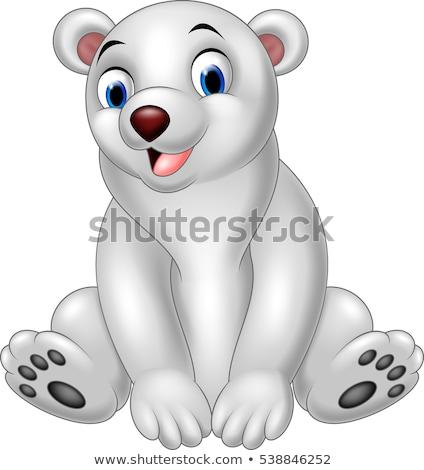 Cartoon полярный медведь улыбаясь иллюстрация белый животного Сток-фото © cthoman
