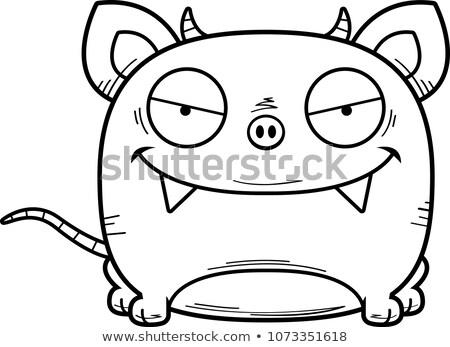 Cartoon sluw illustratie weinig baby jonge Stockfoto © cthoman