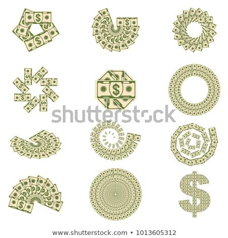Establecer billetes dorado monedas dinero Foto stock © MarySan