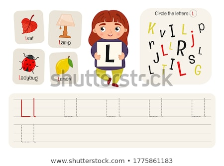 how to write letter l workbook for children stock photo © izakowski