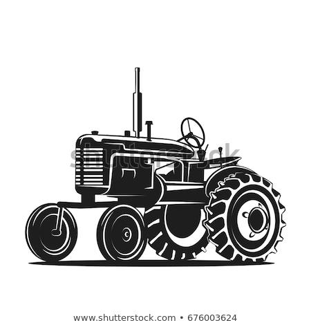 Ciągnika ziarna ciężarówka dziedzinie pracy pola Zdjęcia stock © robuart