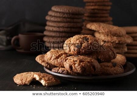 Bolinhos quebrado delicioso chocolate Foto stock © szefei