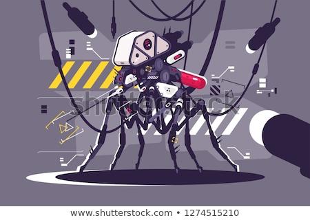 Robot szúnyog steampunk kiborg repülés állat Stock fotó © jossdiim