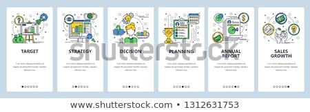 Verkoop groei app interface sjabloon managers Stockfoto © RAStudio