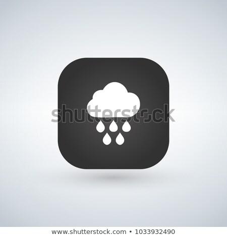 Licht regen weer vector icon toepassing Stockfoto © kyryloff