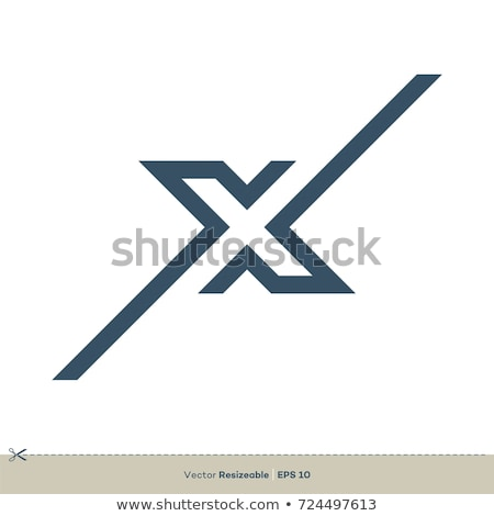 x letter illustration logotype logo vector stock photo © blaskorizov