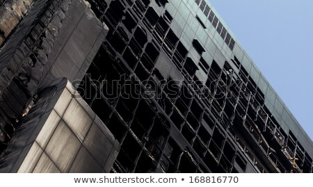 Fire destroy mansion background Stock photo © bluering