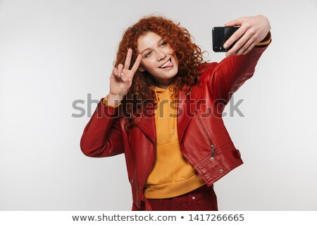 Foto stock: Imagem · mulher · 20s · jaqueta · sorridente