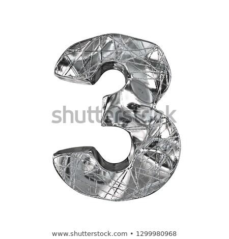 ビット · フォント · 番号 · 3D · 3dのレンダリング · 実例 - ストックフォト © djmilic