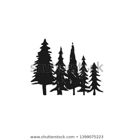 Main arbres silhouette monochrome style Photo stock © JeksonGraphics