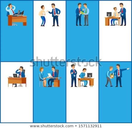 Dolgozik irányítás jó állás plakátok főnök Stock fotó © robuart