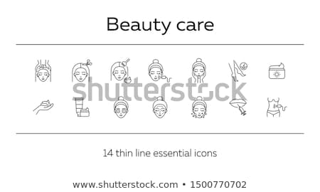 Massage Self Care and Treatment of Female Vector Stock photo © robuart