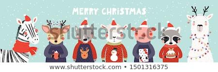 陽気な · クリスマス · 漫画 · 実例 · サンタクロース - ストックフォト © robuart