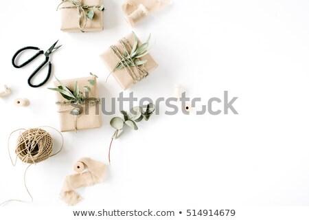 Witte achtergrond ruimte geschenk christmas Stockfoto © joannawnuk
