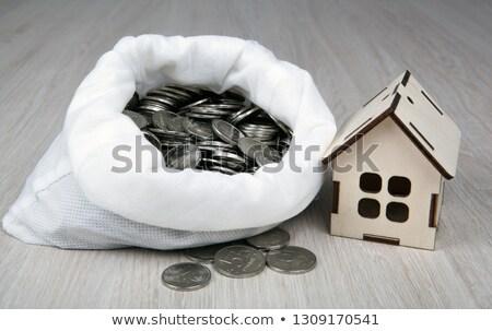 миниатюрный дома русский монетами белый Сток-фото © mizar_21984
