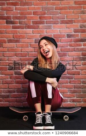 изображение красивой девушки 20-х годов смеясь Сток-фото © deandrobot