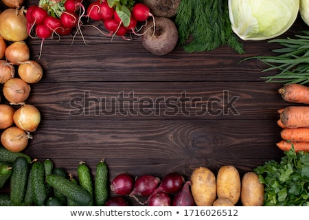 cesta · legumes · frescos · rústico · comida - foto stock © mythja