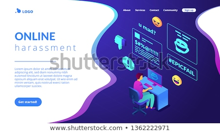 Internet izometrikus 3d illusztráció megcélzott áldozat számítógép Stock fotó © RAStudio