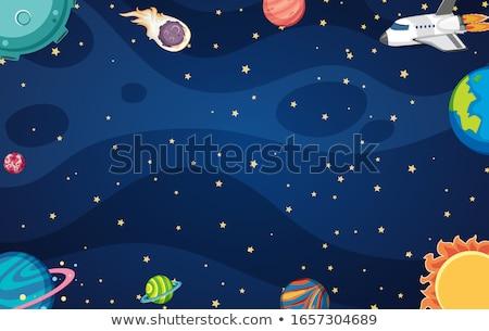 Ruimte exploratie grens illustratie hemel maan Stockfoto © bluering