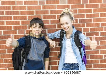 Portrait école 10 années garçon fille Photo stock © Lopolo